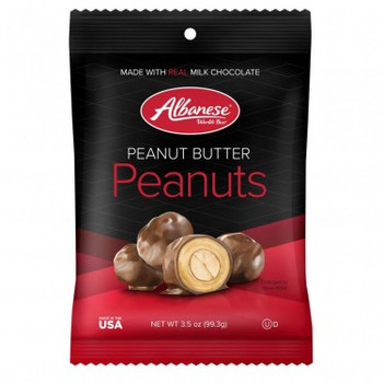 Albanese Milk Chocolate Peanut Butter Double Dipped Peanuts, 3.5 oz. bag (1count)