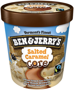 Ben & Jerry's, Salted Caramel CORE Ice Cream, Pint (1 Count)