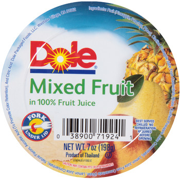 Dole, Mixed Fruit, Fork under Lid, 7 Oz Cup (1 Count)