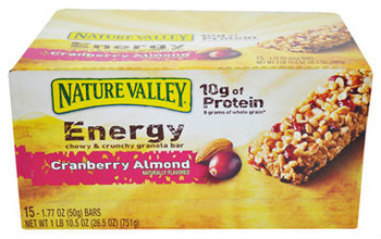 Nature Valley Granola Bar, Recharge, Chewy & Crunchy Cranberry Almond, 1.77 Oz Bar (15 Count)