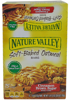 Nature Valley Soft Baked Oatmeal Squares, Cinnamon Brown Sugar, 1.87 Oz Bar (15 Count)