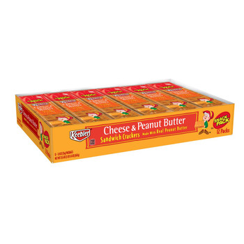 Keebler, Snack Pack, Cheese & Peanut Butter Sandwich Crackers, 1.8 Oz (12 Count)