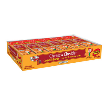 Keebler, Snack Pack, Cheese and Cheddar Cracker Sandwich, 1.8 Oz (12 Count)