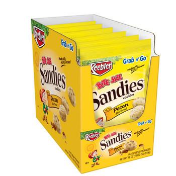 Keebler, Sandies Cookies, Pecan Shortbread, Bite Size, 3 Oz Bag (6 Count)