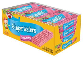 Keebler, Sugar Wafers, Strawberry, 2.75 Oz Bag (12 Count)