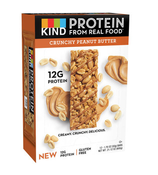 KIND Protein, Crunchy Peanut Butter, 1.76 oz. bars (12 count)
