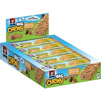 Quaker Chewy, Peanut Butter Chocolate Chip BIG BAR, 1.48 Oz (10 Count)