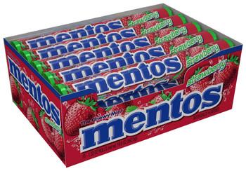 Mentos, Strawberry, 1.32 Oz Rolls (Case of 15)