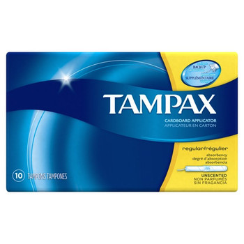 Tampax Original, Regular, 10-Tampons Pack (12 Count)