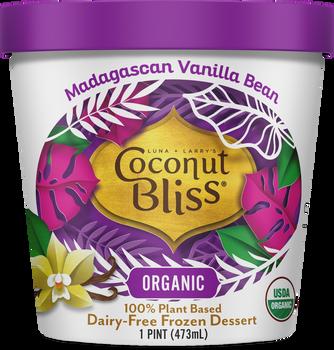 Luna & Larry's Coconut Bliss, Madagascan Vanilla Bean Vegan Ice Cream - Organic - Gluten Free (Pint)