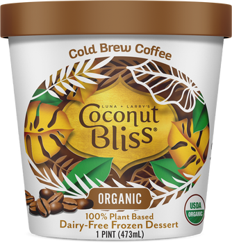 Luna & Larry's Coconut Bliss, Cold Brew Coffee Vegan Ice Cream - Organic - Gluten Free (Pint)