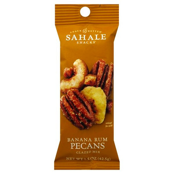Sahale Banana Rum Pecans, Glazed Mix, 1.5 Oz (18 Count)