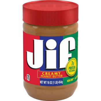 Jif Creamy Peanut Butter, 16 Oz Plastic Jar (1 Count)