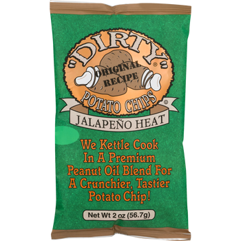 Dirty Potato Chips, Jalapeno, 2 Oz (1 Count)