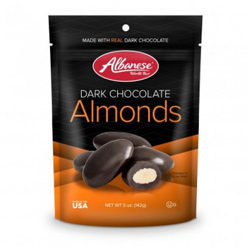 Albanese Dark Chocolate Covered Almonds, 5 oz. Gusseted Peg bag (1 count)