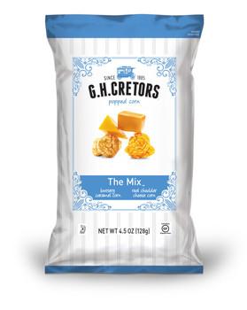 G.H. Cretors Carmel Chedder Popcorn Mix, 4.5 oz Bag (1 count)