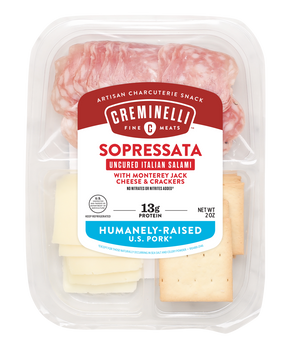 Creminelli Sopressata, Monterey Jack & Cracker, 2.0 oz. Box (12 count)