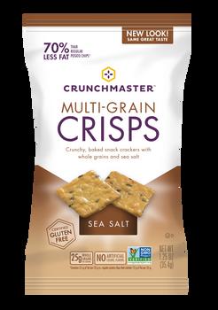 Crunchmaster Multi-Grain Crisps, Sea Salt, 1.25 oz Bag (1 count)