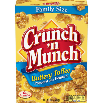 Crunch N Munch, Buttery Toffee Popcorn with Peanuts, 10.0 Oz box (1 Count)