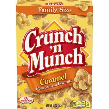 Crunch'n Munch, Caramel Popcorn with Peanuts, 10 oz. box (1 count)