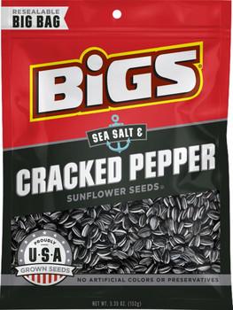 BIGS, Sea Salt & Black Pepper Sunflower Seeds, 5.35 oz. Bag (1 Count)