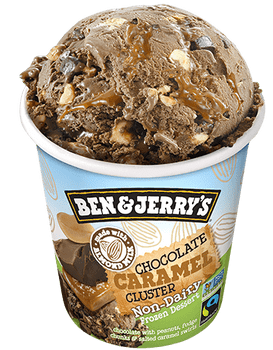 Ben & Jerry's, Non Dairy Chocolate Caramel Cluster, Pint (1 count)