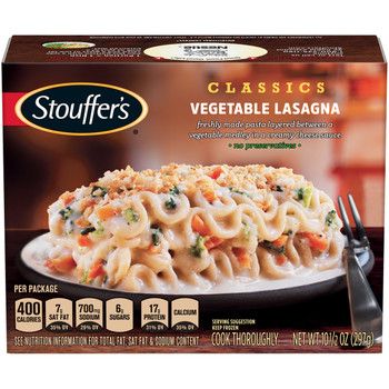 Stouffer's Meal Vegetable Lasagna, 10.5 oz. (1 count)