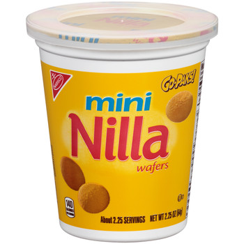 Nabisco Nilla Wafer Cookies, Mini, 2.25 oz Go-Pack Cup (1 count)