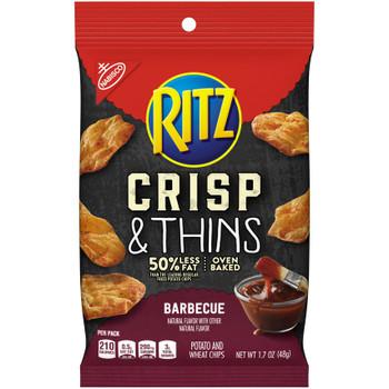 Nabisco Ritz Crisp & Thins, BBQ, 1.7 oz. bag (1 count)