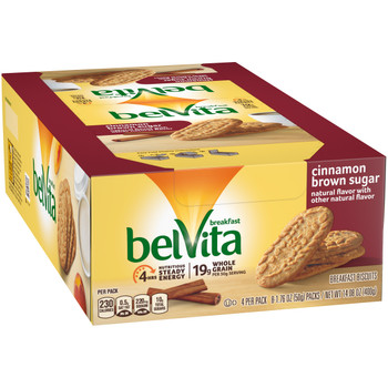 Belvita Cinnamon & Brown Sugar Biscuit. 1.76 oz. (8 count)