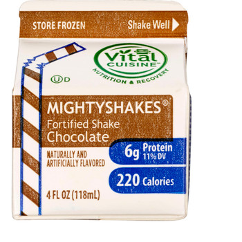 MightyShakes Chocolate Shake Beverage, 4 Ounce , (75 count)