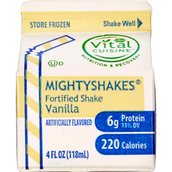 MightyShakes Vanilla Shake Beverage, 4 Ounce , (75 count)