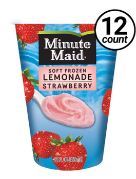 Minute Maid Soft Frozen Strawberry Lemonade Cup, 12 oz cup (12 count)