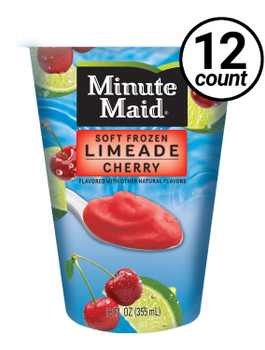 Minute Maid Soft Frozen Cherry Limeade Cup, 12 oz cup (12 count)