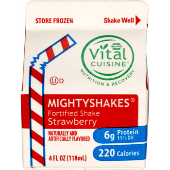 MightyShakes Strawberry Shake Beverage, 4 Ounce , (75 count)