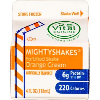 MightyShakes Orange Cream Shake Beverage, 4 Ounce , (75 count)