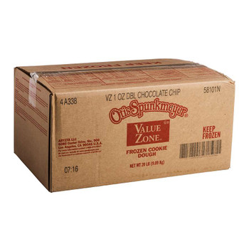 Otis Spunkmeyer Value Zone Double Chocolate Chip Cookie Dough. 1 Ounce - 320 per case