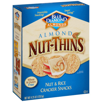 Blue Diamond, Almond Nut-Thins, Nut & Rice Crackers, 4.25 oz. Box (1 Count)