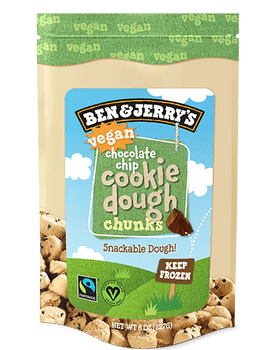 Ben & Jerry's, Vegan Chocolate Chip Cookie Dough Chunks, 8 oz. (1 count)