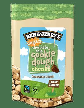 Ben & Jerry's, Vegan Chocolate Chip Cookie Dough Chunks, 8 oz. (1 count)
