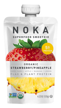 Noka Strawberry Pineapple Superfood Smoothie, 4.22 oz (12 Count)