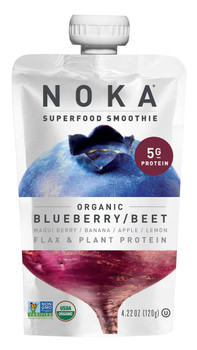 Noka Blueberry Beets Superfood Smoothie, 4.22 oz (12 Count)