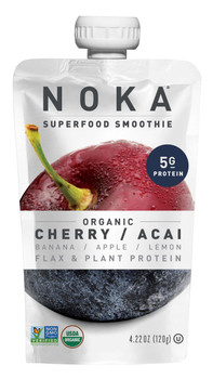 Noka Cherry Acai Superfood Smoothie, 4.22 oz (12 Count)
