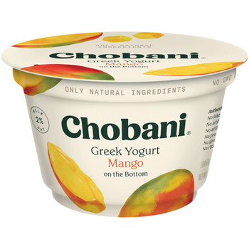 Chobani Low Fat Mango Greek Yogurt, 5.3 Ounces - 12 per Case