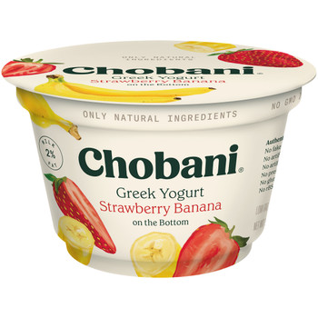 Chobani Low Fat Strawberry Banana Greek Yogurt, 5.3 Ounces - 12 per Case