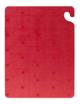 San Jamar 15 x 20 x .5 in. Cut and Carry Red Cutting Board (1 count)