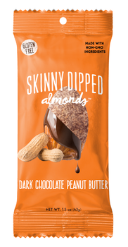 Skinny Dipped Dark Chocolate, Peanut Butter Almonds 1.5 oz Bag (1 count)