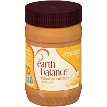 Earth Balance, Creamy Peanut Butter, 16 oz, (12 count)