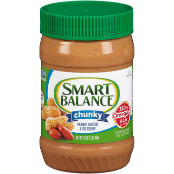 Smart Balance, Chunky Peanut Butter, 16 oz (12 count)
