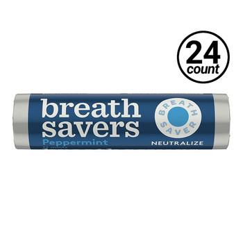 Breath Savers, Peppermint, 0.75 oz. Roll (24 Count)